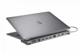 Support Macbook Type C XTREMEMAC station HUB 13 connecteurs